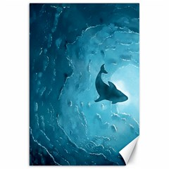 Shark Canvas 20  X 30   by Valentinaart