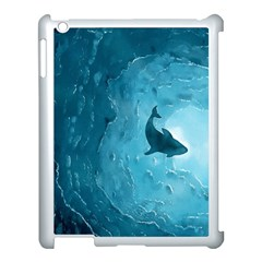 Shark Apple Ipad 3/4 Case (white) by Valentinaart
