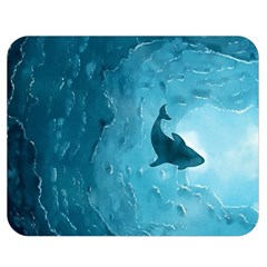 Shark Double Sided Flano Blanket (medium)  by Valentinaart