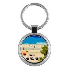 Beach Key Chains (round)  by Valentinaart