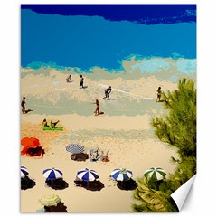 Beach Canvas 8  X 10  by Valentinaart