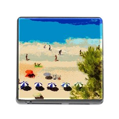 Beach Memory Card Reader (square) by Valentinaart