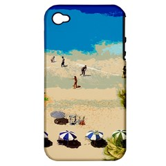 Beach Apple Iphone 4/4s Hardshell Case (pc+silicone) by Valentinaart