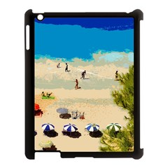 Beach Apple Ipad 3/4 Case (black) by Valentinaart