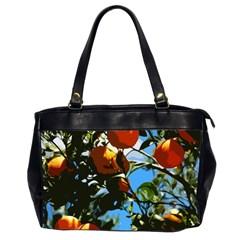 Orange Tree Office Handbags (2 Sides)  by Valentinaart
