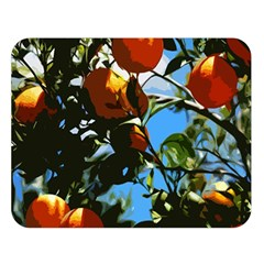 Orange Tree Double Sided Flano Blanket (large)  by Valentinaart
