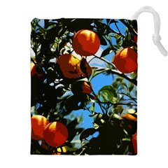 Orange Tree Drawstring Pouches (xxl) by Valentinaart