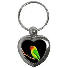 Parrot  Key Chains (heart)  by Valentinaart
