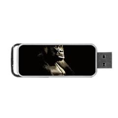 Gorilla  Portable Usb Flash (one Side) by Valentinaart