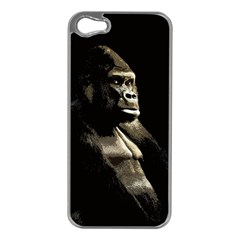 Gorilla  Apple Iphone 5 Case (silver) by Valentinaart