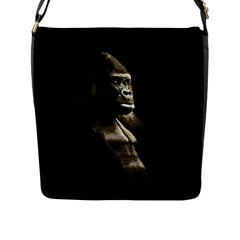 Gorilla  Flap Messenger Bag (l)  by Valentinaart