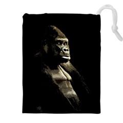 Gorilla  Drawstring Pouches (xxl) by Valentinaart