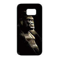 Gorilla  Samsung Galaxy S7 Edge Black Seamless Case by Valentinaart