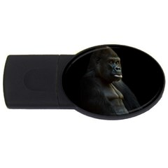 Gorilla  Usb Flash Drive Oval (4 Gb) by Valentinaart