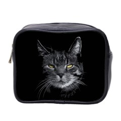 Domestic Cat Mini Toiletries Bag 2 Side by Valentinaart