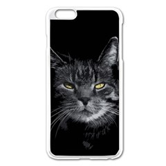 Domestic Cat Apple Iphone 6 Plus/6s Plus Enamel White Case by Valentinaart