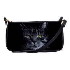 Domestic Cat Shoulder Clutch Bags by Valentinaart