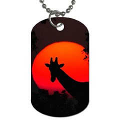 Giraffe  Dog Tag (two Sides) by Valentinaart