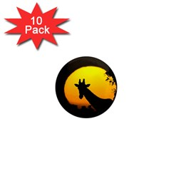 Giraffe  1  Mini Magnet (10 Pack)  by Valentinaart