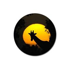 Giraffe  Magnet 3  (round) by Valentinaart