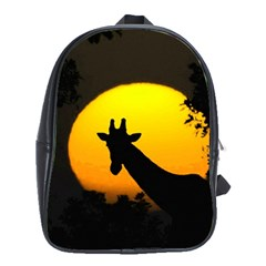 Giraffe  School Bag (xl) by Valentinaart
