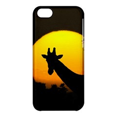 Giraffe  Apple Iphone 5c Hardshell Case by Valentinaart