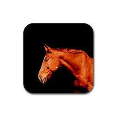 Horse Rubber Coaster (square)  by Valentinaart