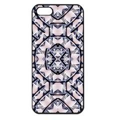 Futuristic Geo Print Apple Iphone 5 Seamless Case (black) by dflcprints