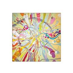 Drawing Multicolored Light  Satin Bandana Scarf by amphoto