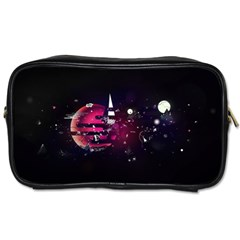 Fragments Planet World 3840x2400 Toiletries Bags by amphoto