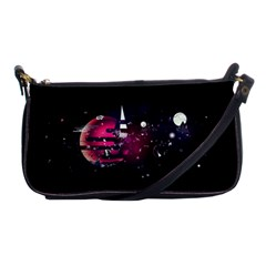 Fragments Planet World 3840x2400 Shoulder Clutch Bags by amphoto