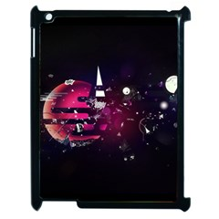 Fragments Planet World 3840x2400 Apple Ipad 2 Case (black) by amphoto