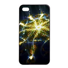 Surface Pattern Light  Apple Iphone 4/4s Seamless Case (black) by amphoto