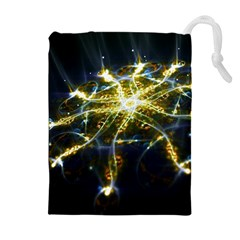 Surface Pattern Light  Drawstring Pouches (extra Large) by amphoto