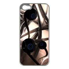 Connection Shadow Background  Apple Iphone 5 Case (silver) by amphoto