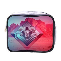 Horns Background Cube  Mini Toiletries Bags by amphoto