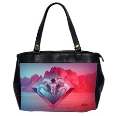 Horns Background Cube  Office Handbags (2 Sides)  by amphoto