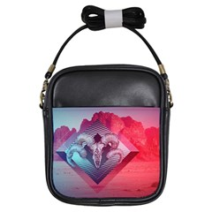 Horns Background Cube  Girls Sling Bags by amphoto