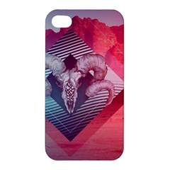 Horns Background Cube  Apple Iphone 4/4s Hardshell Case by amphoto