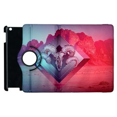 Horns Background Cube  Apple Ipad 3/4 Flip 360 Case by amphoto