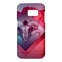 Horns Background Cube  Samsung Galaxy S7 Hardshell Case  by amphoto