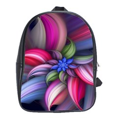 Flower Rotation Form  School Bag (large) by amphoto