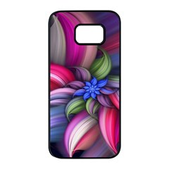 Flower Rotation Form  Samsung Galaxy S7 Edge Black Seamless Case by amphoto