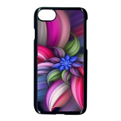 Flower Rotation Form  Apple Iphone 7 Seamless Case (black) by amphoto