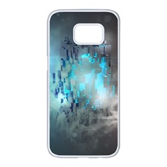 Something Light Abstraction  Samsung Galaxy S7 Edge White Seamless Case by amphoto