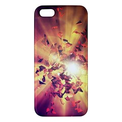 Shards Explosion Energy  Apple Iphone 5 Premium Hardshell Case by amphoto