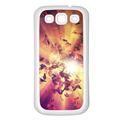 Shards Explosion Energy  Samsung Galaxy S3 Back Case (white) by amphoto