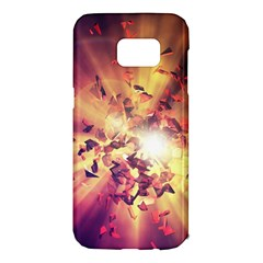 Shards Explosion Energy  Samsung Galaxy S7 Edge Hardshell Case by amphoto