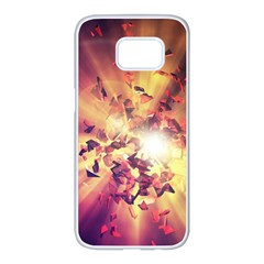 Shards Explosion Energy  Samsung Galaxy S7 Edge White Seamless Case by amphoto