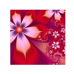2480 Flowers Petals Red 3840x2400 Small Satin Scarf (square) by amphoto